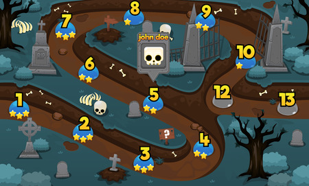 zombie graveyard halloween game level map background