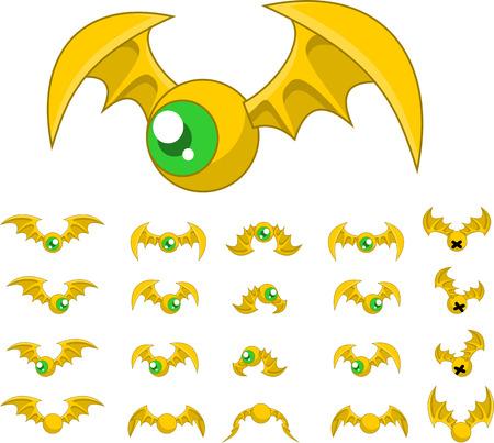 top down bat game character sprites