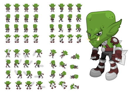 top down orc game character sprites