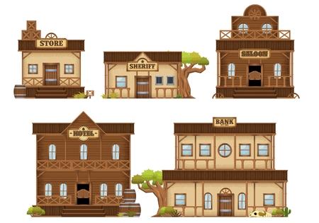 cowboy building illustrations