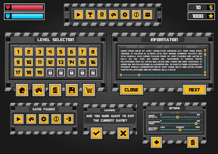 robot factory game gui interface pack