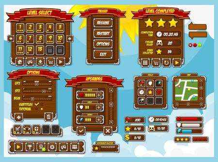 medieval game gui interface pack Standard-Bild - 107335970
