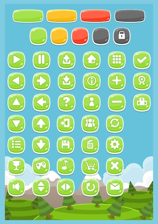 casual cute game button pack