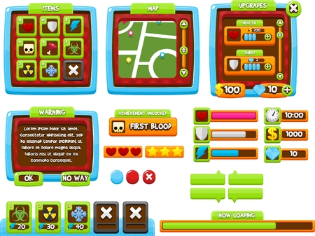 casual candy game gui interface pack
