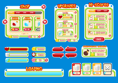 casual game gui interface pack