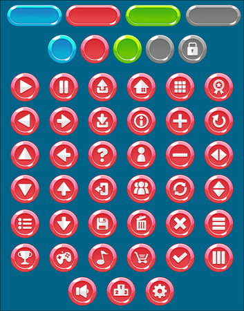 red circle game button pack