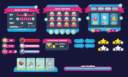 Joyful space game gui interface pack