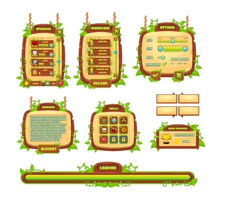 GUI del juego de enredaderas y hojas