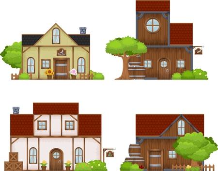 Medieval home illustration