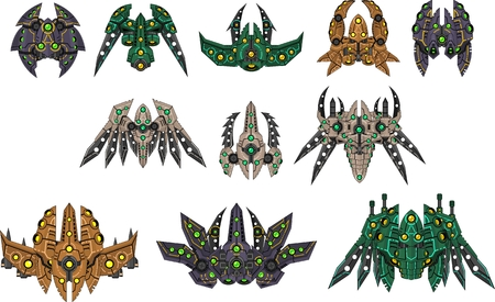 Alien space ship game sprites