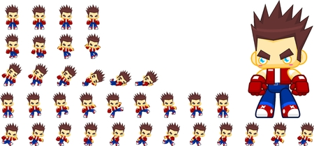 Animated boy game character sprites