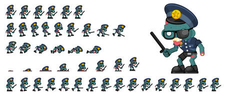 Animated zombie game character sprites