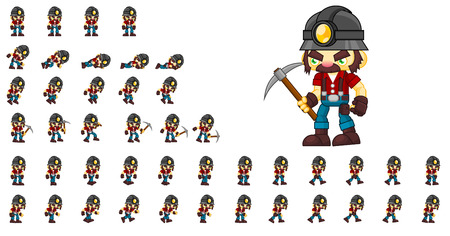 Animated bob the miner game character sprites