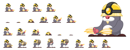 Animated mole game character sprites