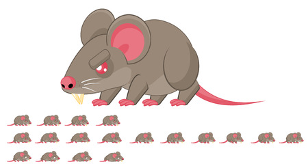 Animated rat game character sprites
