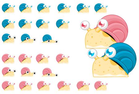 Animowane postacie z gry ślimakowej