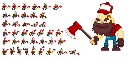 Animated redneck game character sprites