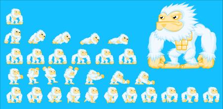 Animated yeti game character Vettoriali
