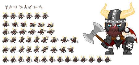 Geanimeerd Viking-gamekarakter