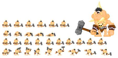 Animated cyclops ogre game character