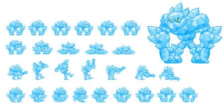 Animated Ice Golem Character