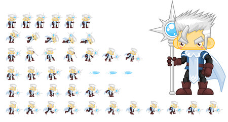 Animated Ice Mage Character