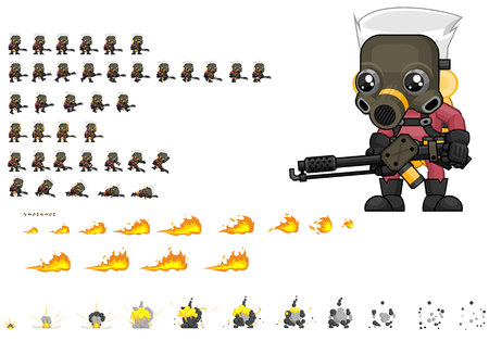 Animated Exterminator Game Character