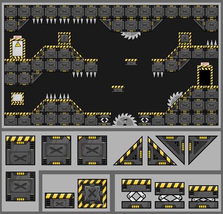 Robot Factory Game Tileset