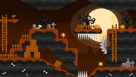 Scary Graveyard Game World Tileset