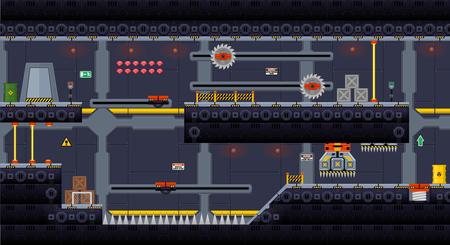 Space Ship Game Tile Set