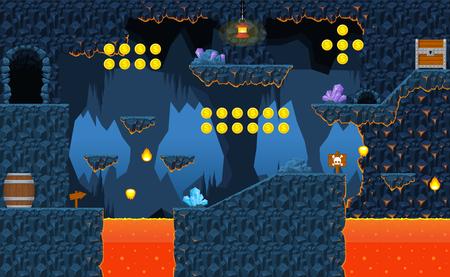 Volcano game level tileset