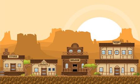 Cowboy Buildings Banco de Imagens - 107336572