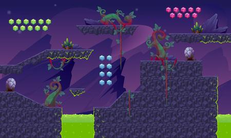 Purple Planet Game World Vettoriali