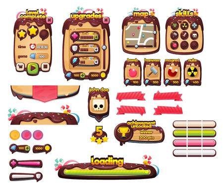GUI gry w czekoladowe cukierki