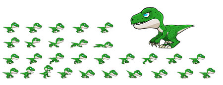 Raptor Game Sprites Stock Illustratie