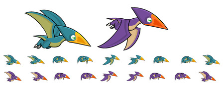 Pteranodon Game Sprites