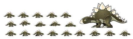 Stegosaurus Game Sprites