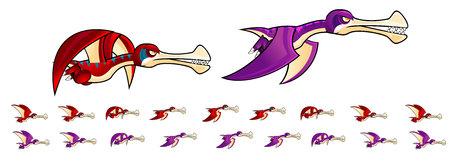 Pterodactyl Game Sprites