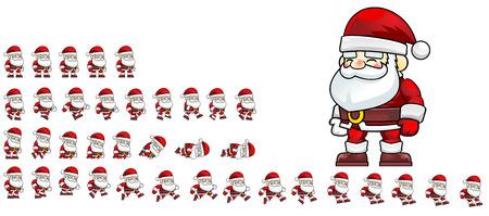 Santa Game Sprites