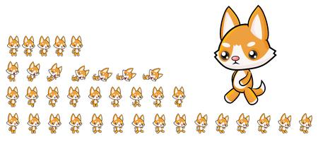 Dog Game Sprites Banco de Imagens - 117609132