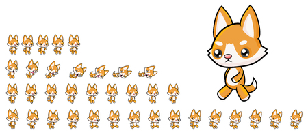 Dog Game Sprites 矢量图像