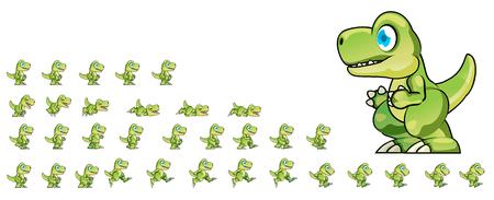 Dino Game Sprites Ilustração