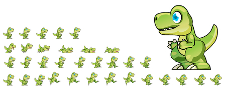Dino Game Sprites 矢量图像