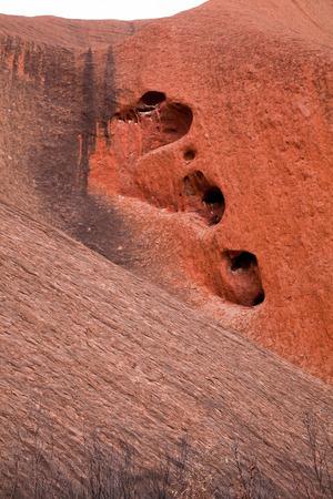 ayers: Uluru - Ayers Rock. Aboriginal sacred place.