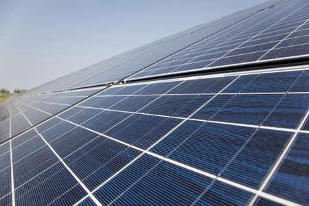 solar power plant: Solar power plant construction.