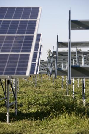 solar power plant: Solar power plant in construction.