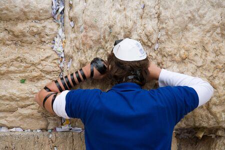 wish desire: Praying man in Jerusalem Western Wall