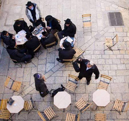 jewish people: Jewish people on the way to sabbath pray