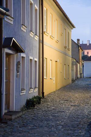 edad media: Iluminado pueblo jud�o en Trebic (Moravia, Rep�blica Checa). Protegido por la UNESCO el m�s antiguo asentamiento edades Medio de la comunidad jud�a en Europa Central.