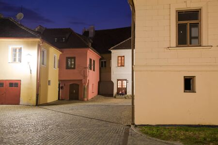 Illuminated Jewish town in Trebic (Moravia, Czech Republic). protected the oldest Middle ages settlement of Jewish community in Central Europe.